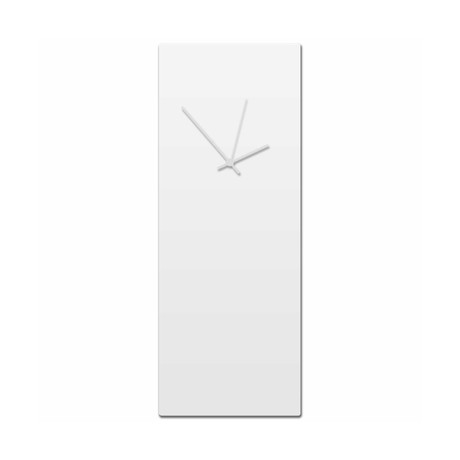 Whiteout Clock // White Hands (Small)