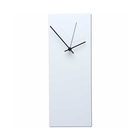 Whiteout Clock // Black Hands (Small)