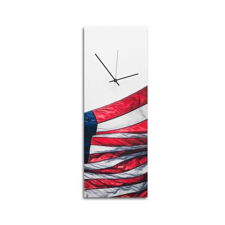 USA Flag Clock