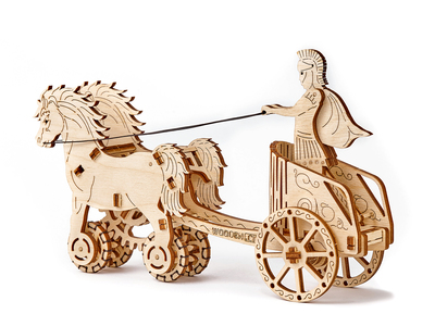 WOODEN.CITY Wooden Kinetic Construction Sets Roman Chariot by Touch Of Modern - Denver Outlet