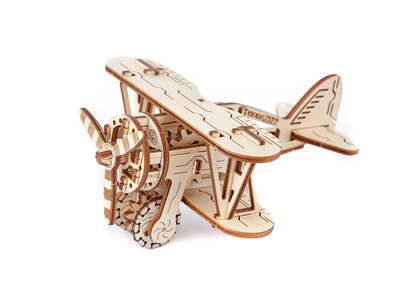 Photo of WOODEN.CITY Wooden Kinetic Construction Sets Biplane by Touch Of Modern