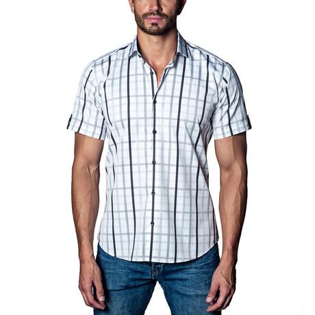 Paid Short Sleeve Shirt // White + Grey + Black