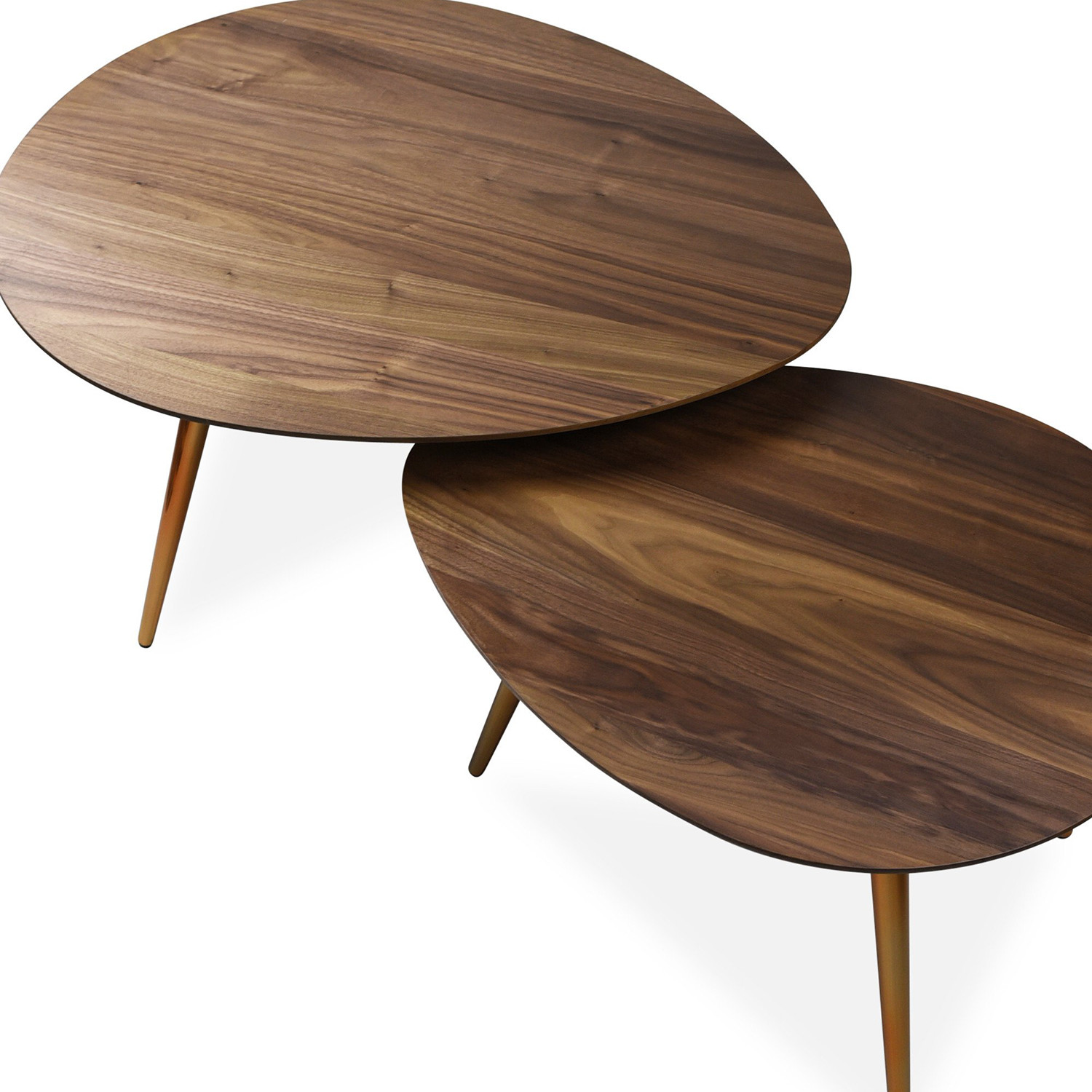 Maddox mid century modern nesting coffee table set edloe for Modern nesting coffee tables