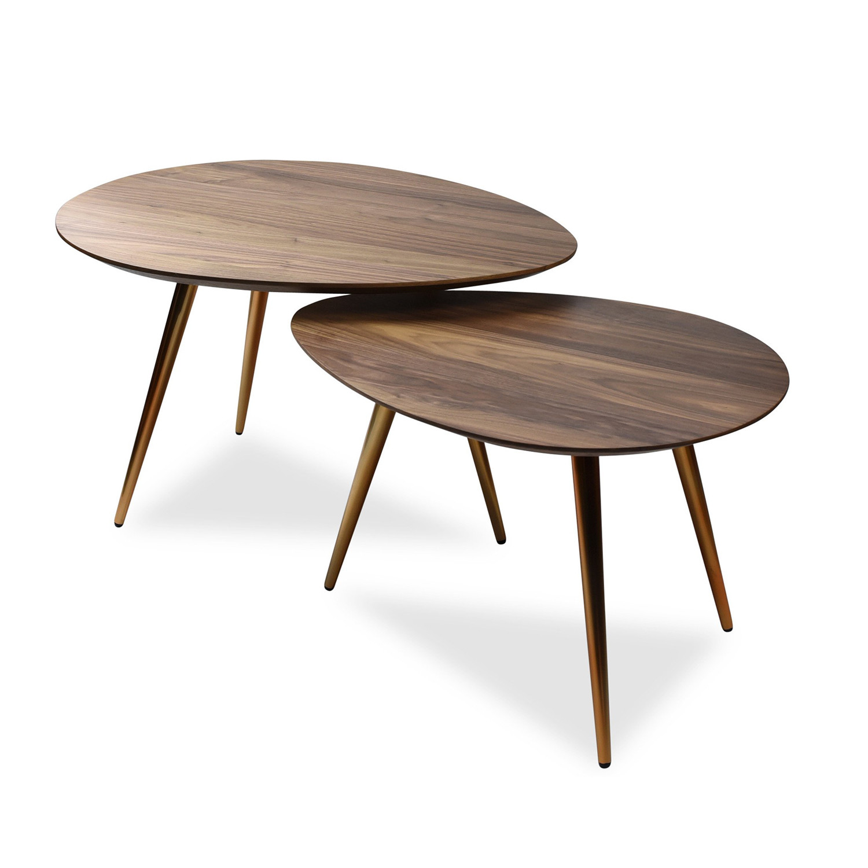 Maddox Mid Century Modern Nesting Coffee Table Set Edloe Finch