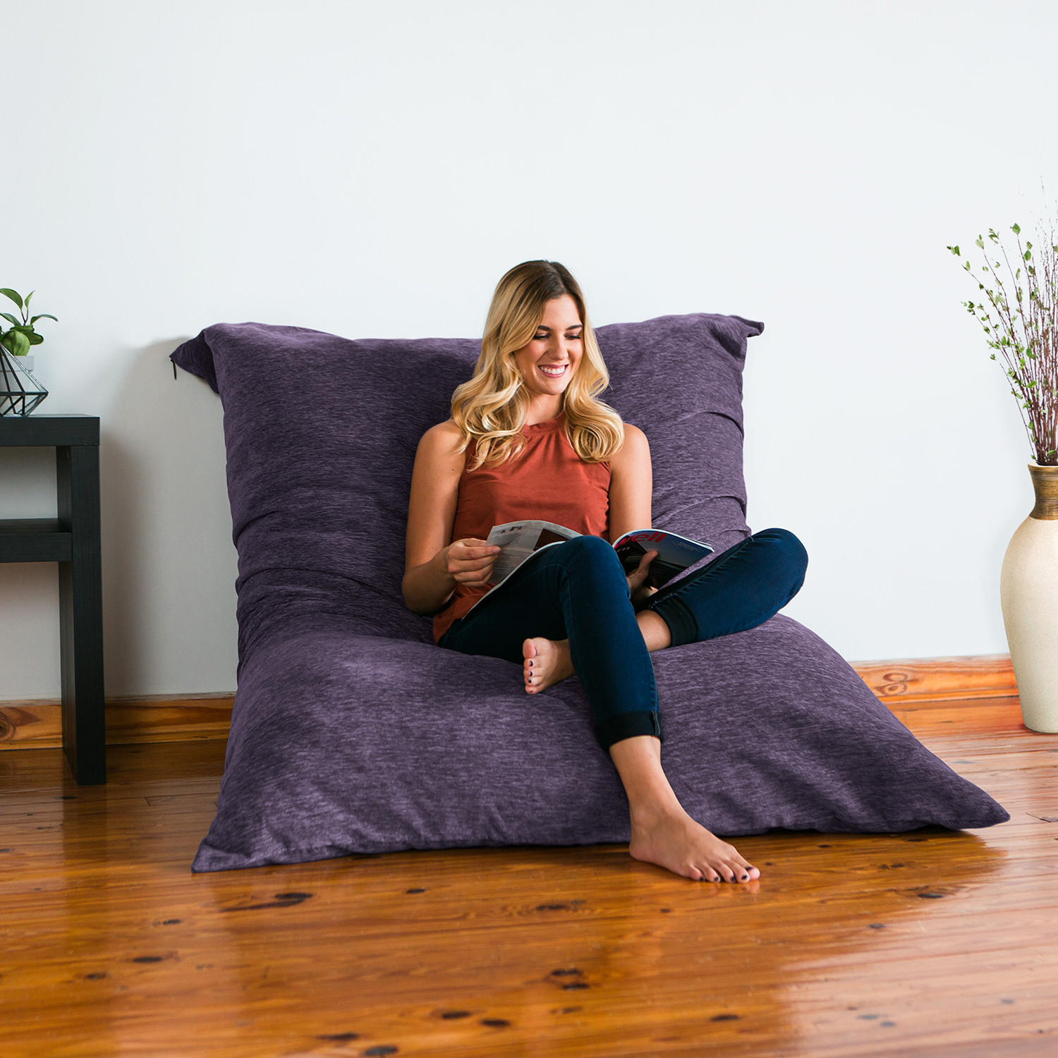 Jaxx Floor Pillows : Floor Pillow Lounger (Plum) - Jaxx - Touch of Modern