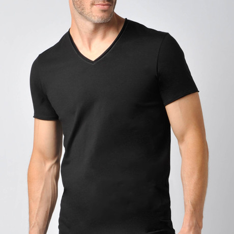 Pima Cotton Sleep V-Neck // Black (S)