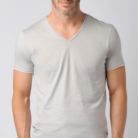 Pima Cotton Sleep V-Neck // Grey Violet (S)
