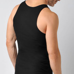 Ribbed Pima Cotton Tank // Black (S)
