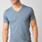 Pima Cotton Sleep V-Neck // Deep Dusk (S)