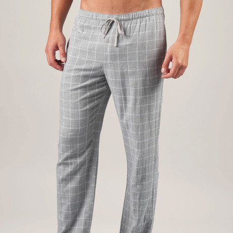 Plaid Double Gauze PJ Pant // Metro Grey (S)