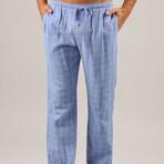 Plaid Double Gauze PJ Pant // Lavender (S)
