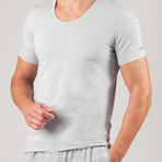 Essential Cotton Stretch Lounge Tee // Metro Grey Heather (S)