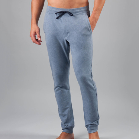 24/7 French Terry Lounge Pant // Dusk Heather (S)