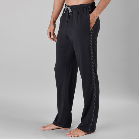 Gotham Stripe Lounge Pant // Black