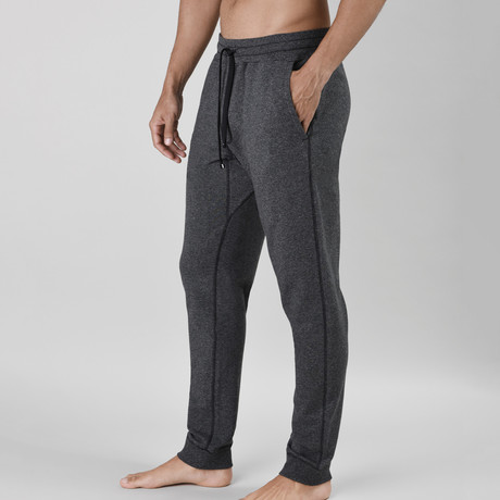 24/7 French Terry Lounge Pant // Charcoal Heather (S)