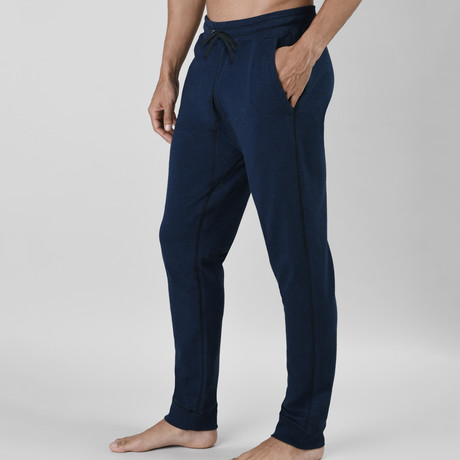 24/7 French Terry Lounge Pant // Dark Blue Heather (S)