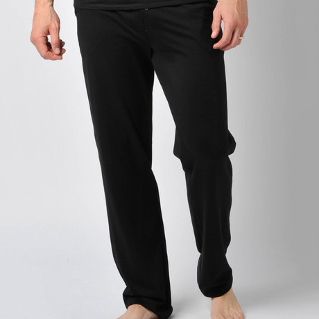 Pima Cotton Lounge Pant // Black (S)