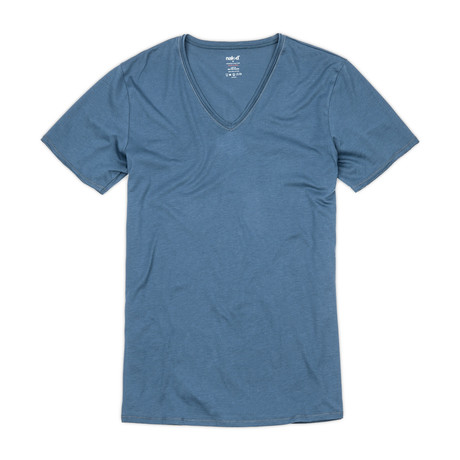 Pima Cotton V-Neck // Dark Denim (S)