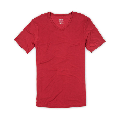Luxury MicroModal V-Neck // Jungle Red (S)
