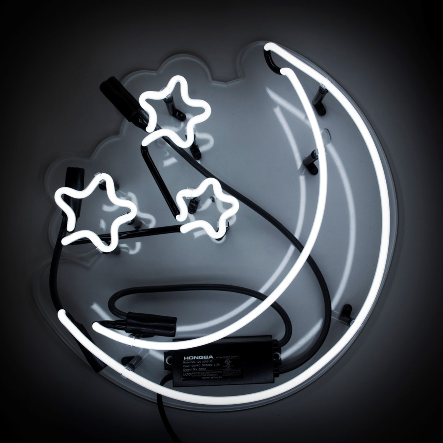 Moon And Stars Neon Sign