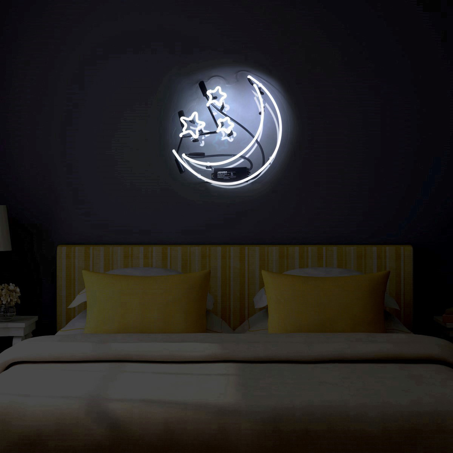 moon and stars neon sign oliver gal artist co touch of modern. Black Bedroom Furniture Sets. Home Design Ideas