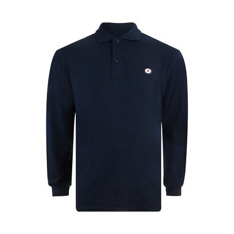 Target Long Sleeve Polo // Navy