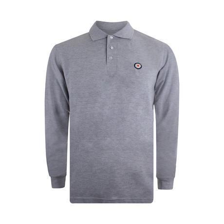 Target Long Sleeve Polo // Slub Heather Grey