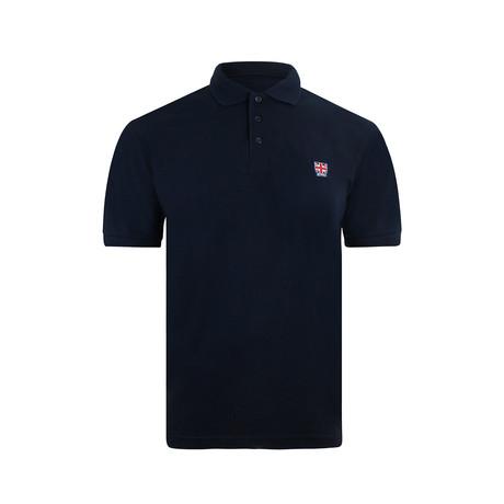 Emblem Polo Shirt // Navy (XS)