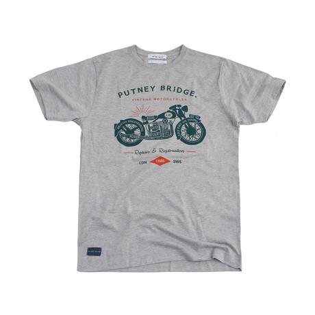 Motorcycles T-Shirt // Grey Marl (S)
