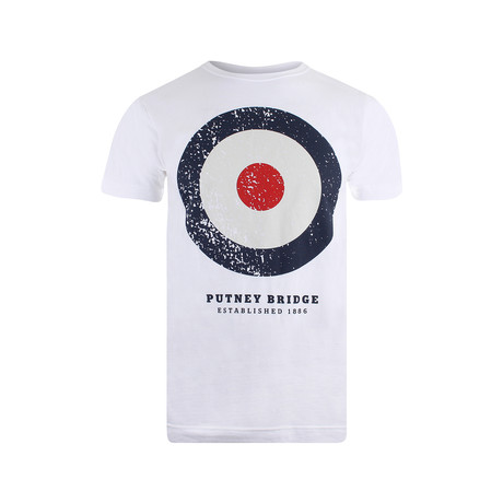 Target Distressed T-Shirt // White (S)