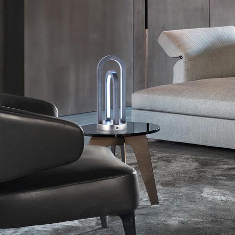 Double Rainbow // Table Lamp // Antique Nickel