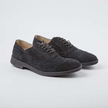 Vinci Wing-Tip Oxford // Charcoal (US: 7)
