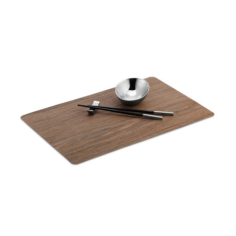 Wood Place Mat + Chopsticks (Sand)