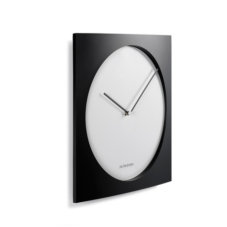 jacob jensen modern danish wall clocks touch of modern. Black Bedroom Furniture Sets. Home Design Ideas