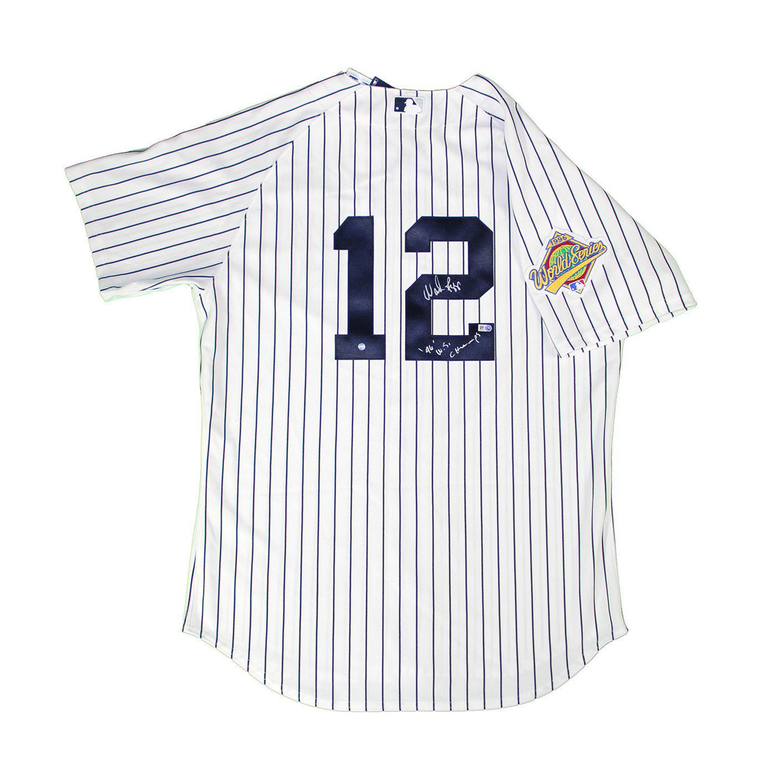 official photos d7c9a 2c9b5 Signed Yankees #12 Home Pinstripe Jersey // Wade Boggs ...