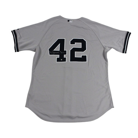 competitive price b1cd9 8c3f4 Signed Authentic Yankees Away Jersey // Mariano Rivera ...