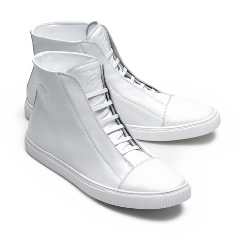 Sully Wong + Nobis Collaborative High-Top Sneaker // White (US: 7)