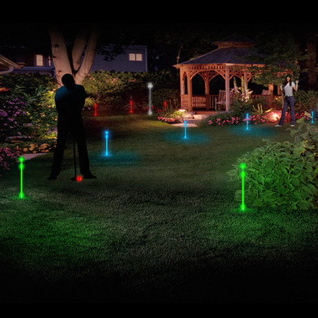 LED Backyard Night Golf Set // Spectrum