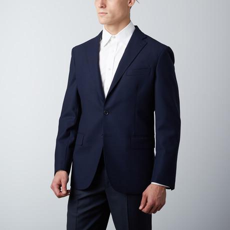 Tailored Fit Notch Lapel Wool Suit Jacket // Indigo