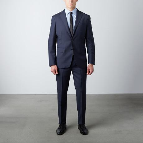 Tailored Fit Notch Lapel Wool Suit // Navy