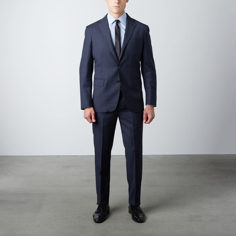 Tailored Fit Notch Lapel Wool Suit // Navy (US: 38R)