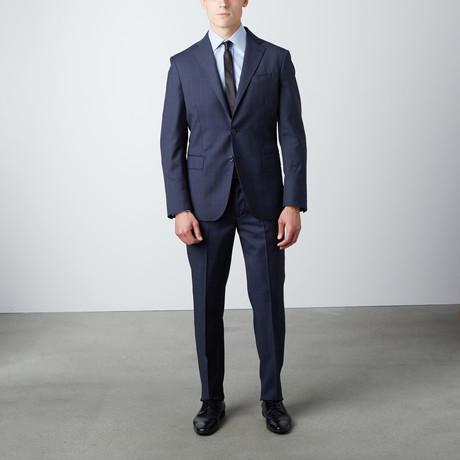 Regular Fit Notch Lapel Wool Suit // Navy
