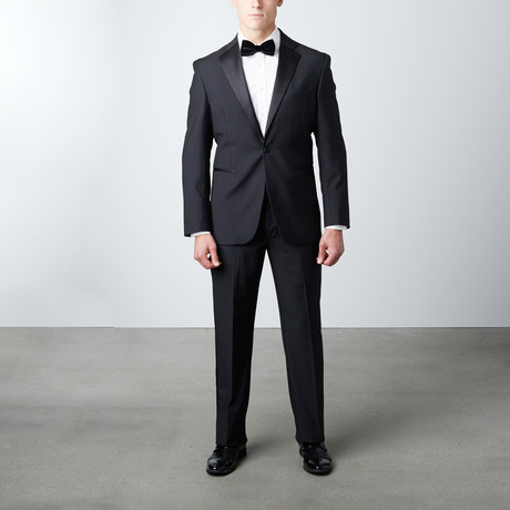 Regular Fit Notch Lapel Wool Tuxedo // Black (US: 38R)