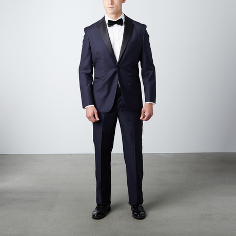 Notch Lapel Wool Tuxedo // Blue (US: 38R)