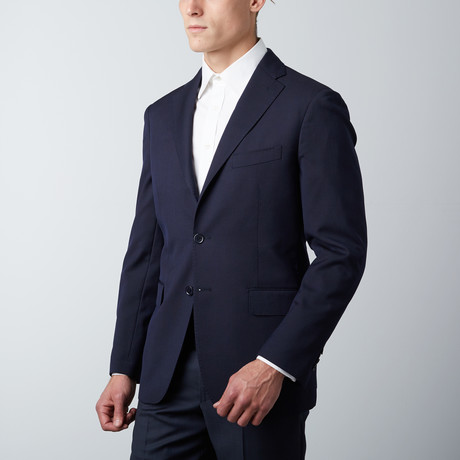 Tailored Fit Notch Lapel Wool Suit Jacket // Navy (US: 38R)