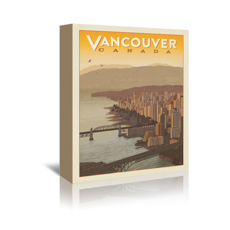 "Vancouver, Canada // Skyline (5""W x 7""H x 1""D)"