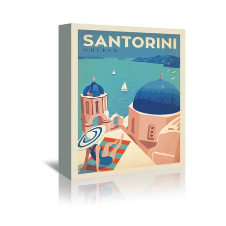 "Santorini, Greece (7""W x 5""H x 1""D)"