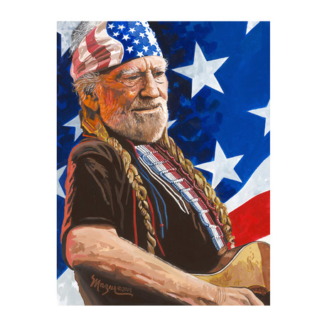Willie Nelson // Exclusive Autographed Print