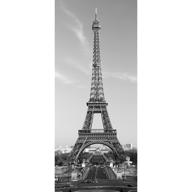 Eiffel tower door mural walplus touch of modern for Eiffel tower mural