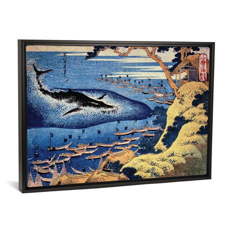 Goto Kujira Tsuki (Whaling Off The Coast Of Goto Island) // Katsushika Hokusai // 1833